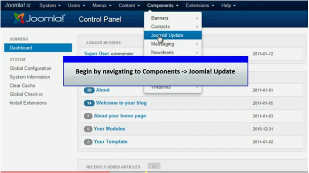 Joomla Updation